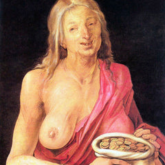 The Museum Outlet - Old woman with a purse by Durer