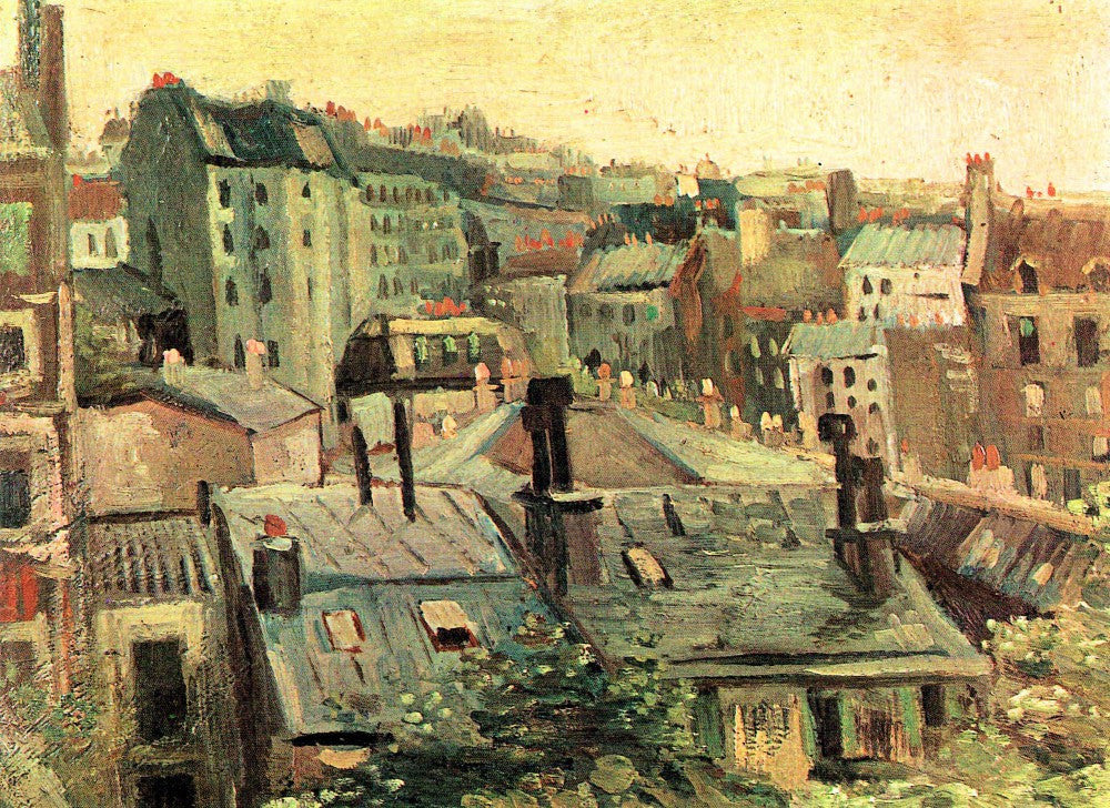 The Museum Outlet - Overlooking the rooftops of Paris by Van Gogh