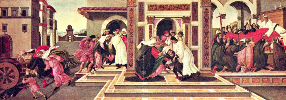 The Museum Outlet - Painting the life of St. Zenobius of Florence by Botticelli