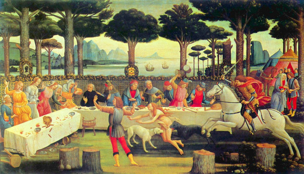 The Museum Outlet - Paintings on Boccaccio's Decameron Third episode by Botticelli