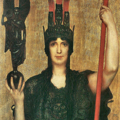 100% Hand Painted Oil on Canvas - Pallas Athene by Franz von Stuck