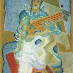 The Museum Outlet - Pierrot, playing guitar by Juan Gris