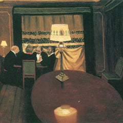 100% Hand Painted Oil on Canvas - Poker players by Felix Vallotton