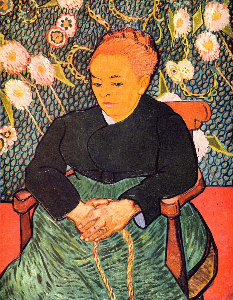 The Museum Outlet - Portrait of Augustine Roulin (La Berceuse by Van Gogh
