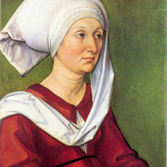 The Museum Outlet - Portrait of Barbara Durer, born Holper by Durer