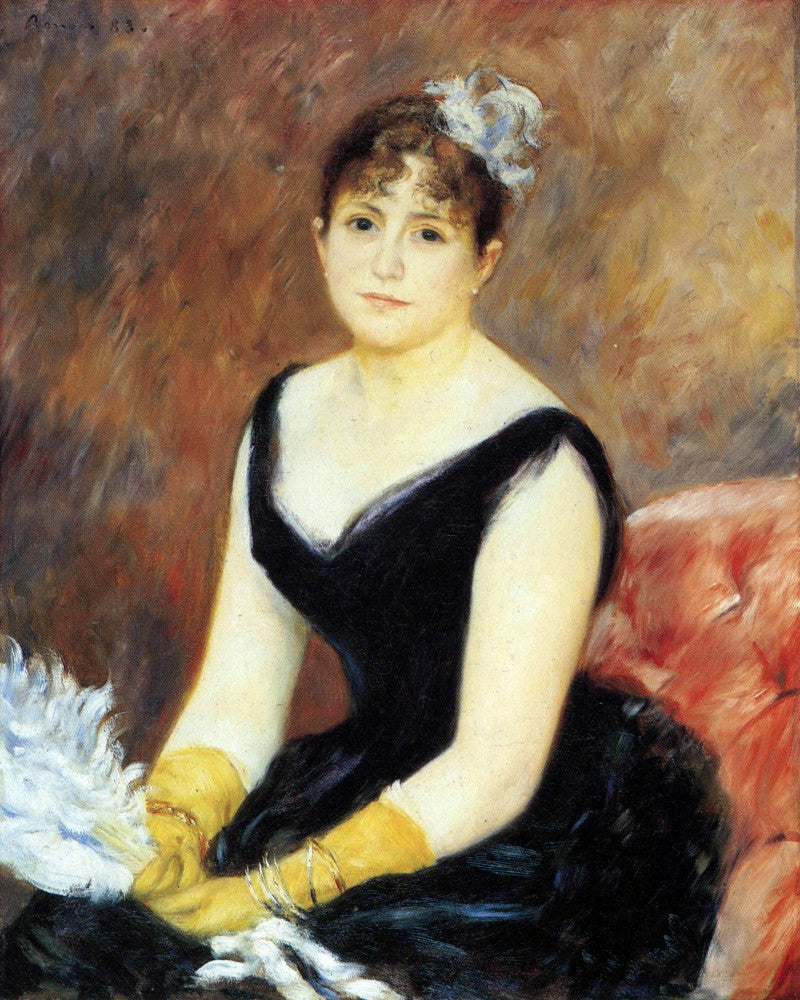 The Museum Outlet - Portrait of Madame Clapisson by Renoir