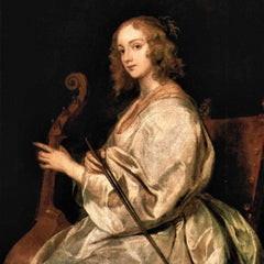 The Museum Outlet - Portrait of Mary Ruthven, wife of the artist by Van Dyck