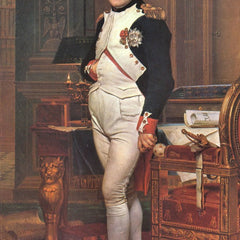 100% Hand Painted Oil on Canvas - Portrait of Napoleon in his work room by Jacques Louis David