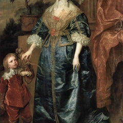 The Museum Outlet - Portrait of Queen Henrietta Maria, with a dwarf by Van Dyck