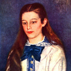 100% Hand Painted Oil on Canvas - Portrait of Therese Berard by Renoir