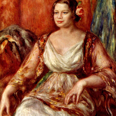 100% Hand Painted Oil on Canvas - Portrait of Tilla Durieux by Renoir