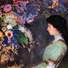 The Museum Outlet - Portrait of Violet Heyman by Odilon Redon