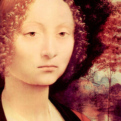 The Museum Outlet - Portrait of a Dame (Ginevra Benci) Detail by Da Vinci
