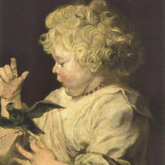 The Museum Outlet - Portrait of a child with bird by Van Dyck