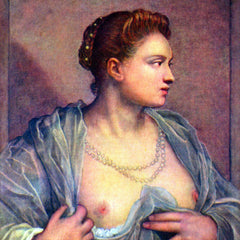 The Museum Outlet - Portrait of a woman with bare breasts by Tintoretto