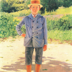 100% Hand Painted Oil on Canvas - Portrait of a young Delisle by Felix Vallotton