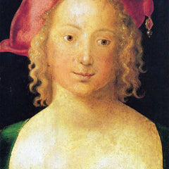 The Museum Outlet - Portrait of a young girl with a red beret by Durer