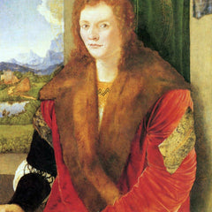 The Museum Outlet - Portrait of an unknown in Red by Durer