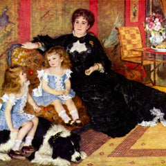 100% Hand Painted Oil on Canvas - Portrait of the Mrs. Charpentier  and her children by Renoir