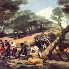 The Museum Outlet - Powder production in the Sierra de Tardienta by Goya