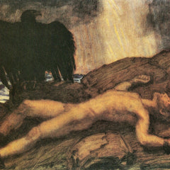 100% Hand Painted Oil on Canvas - Prometheus by Franz von Stuck