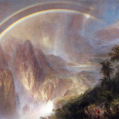 The Museum Outlet - Rainy season in the tropics by Frederick Edwin Church