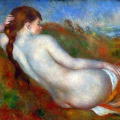 100% Hand Painted Oil on Canvas - Reclining nude by Renoir