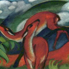 The Museum Outlet - Red Deer II by Franz Marc