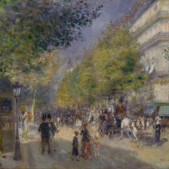 100% Hand Painted Oil on Canvas - Renoir - Grande Boulevards