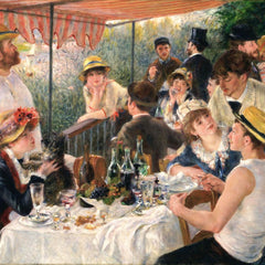 100% Hand Painted Oil on Canvas - Renoir - Luncheon at the boating party