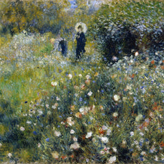 100% Hand Painted Oil on Canvas - Renoir - Woman with a Parasol in a Garden