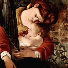 The Museum Outlet - Resting on the Flight into Egypt detail 2 by Caravaggio