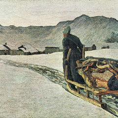 100% Hand Painted Oil on Canvas - Return from the forest by Giovanni Segantini