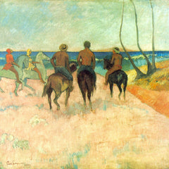 The Museum Outlet - Riding on the Beach #2 by Gauguin