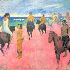 The Museum Outlet - Riding on the beach by Gauguin
