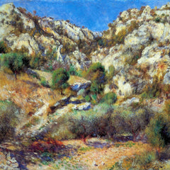 100% Hand Painted Oil on Canvas - Rocks at L'Estage by Renoir