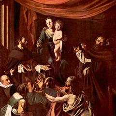 The Museum Outlet - Rosary Madonna by Caravaggio