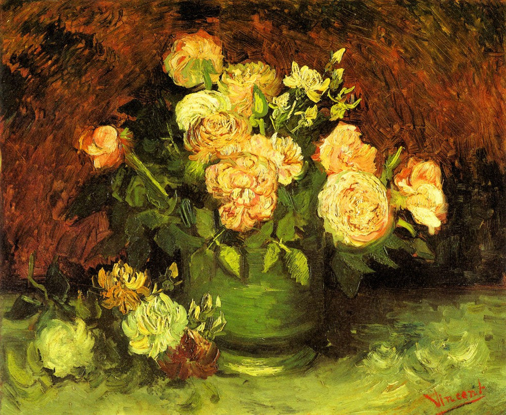 The Museum Outlet - Roses by Van Gogh