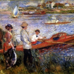 100% Hand Painted Oil on Canvas - Rowers from Chatou by Renoir