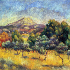 100% Hand Painted Oil on Canvas - Sainte Vicoria Mountain by Renoir