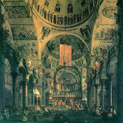 The Museum Outlet - San Marco, inside view by Canaletto