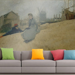Roshni Arts - Curated Art Wall Mural - Santiago Rusinol - On campaign | Self-Adhesive Vinyl Furnishings Decor Wall Art