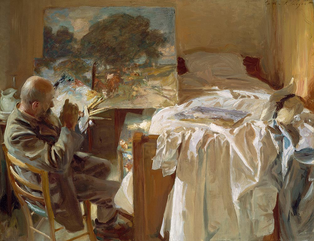 100% Hand Painted Oil on Canvas - Sargent - An Artist in His Studio