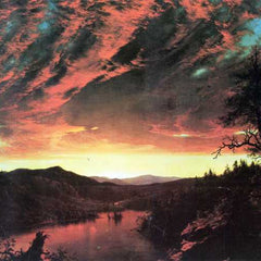 The Museum Outlet - Secluded landscape in the sunset by Frederick Edwin Church