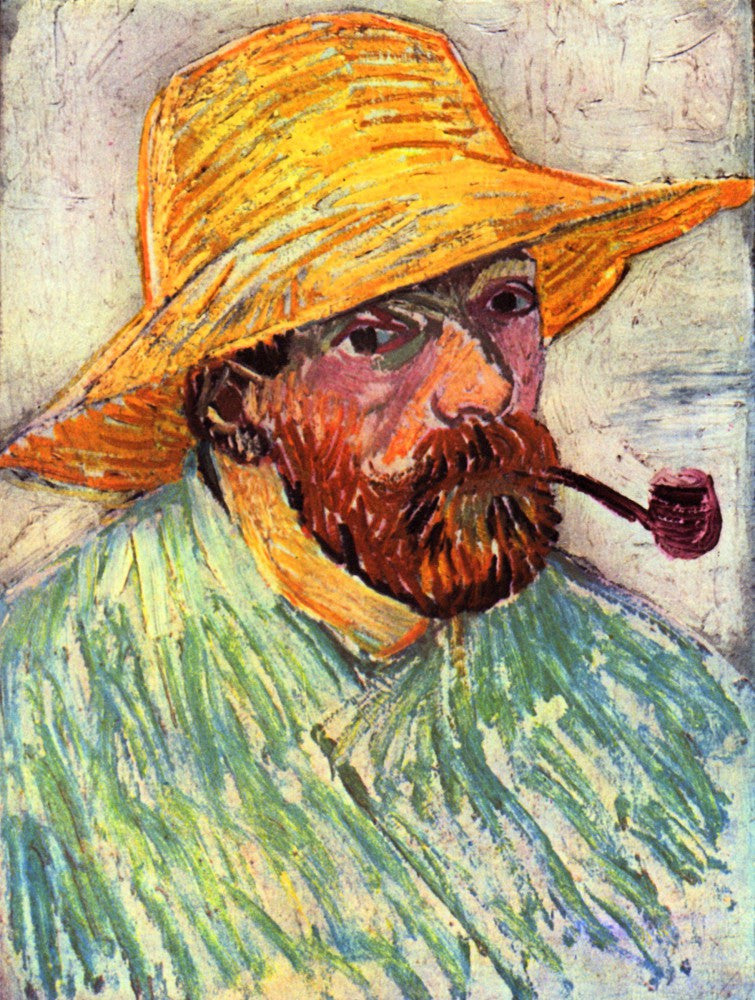 The Museum Outlet - Self-Portait with straw hat [2] by Van Gogh