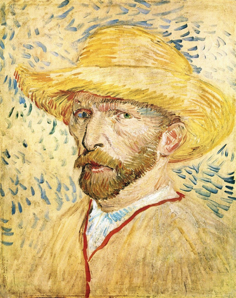 The Museum Outlet - Self-Portait with straw hat by Van Gogh