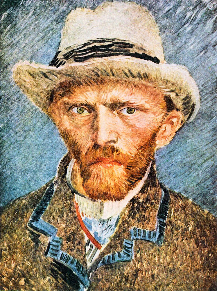 The Museum Outlet - Self-portrait with a gray felt hat [1] by Van Gogh