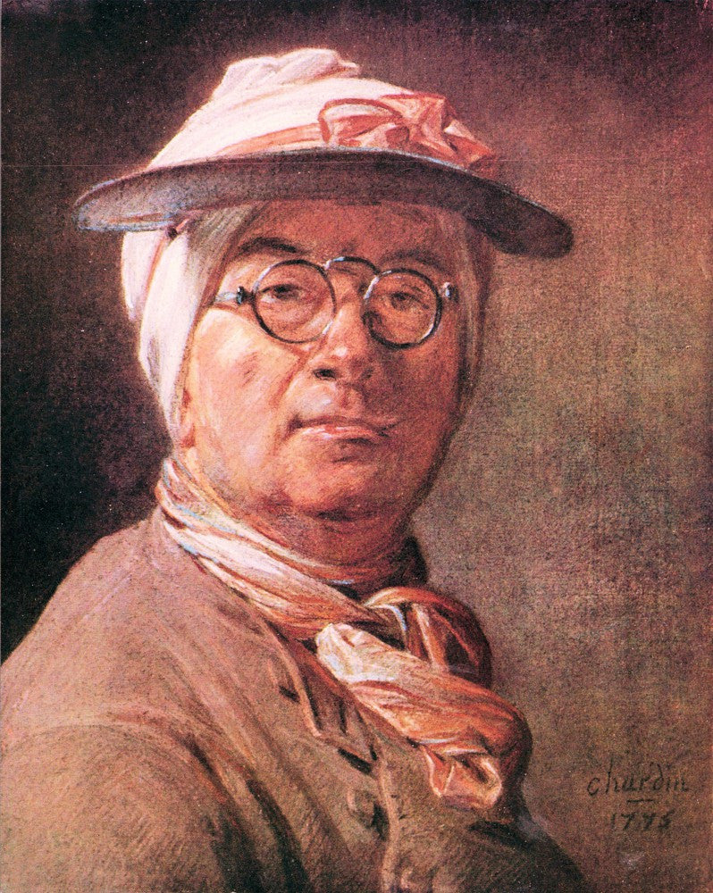 The Museum Outlet - Self-portrait with glasses by Jean Chardin