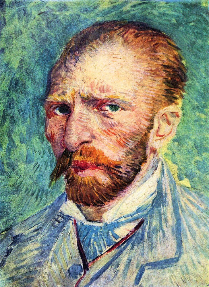 The Museum Outlet - Self-portrait with light blue tie by Van Gogh