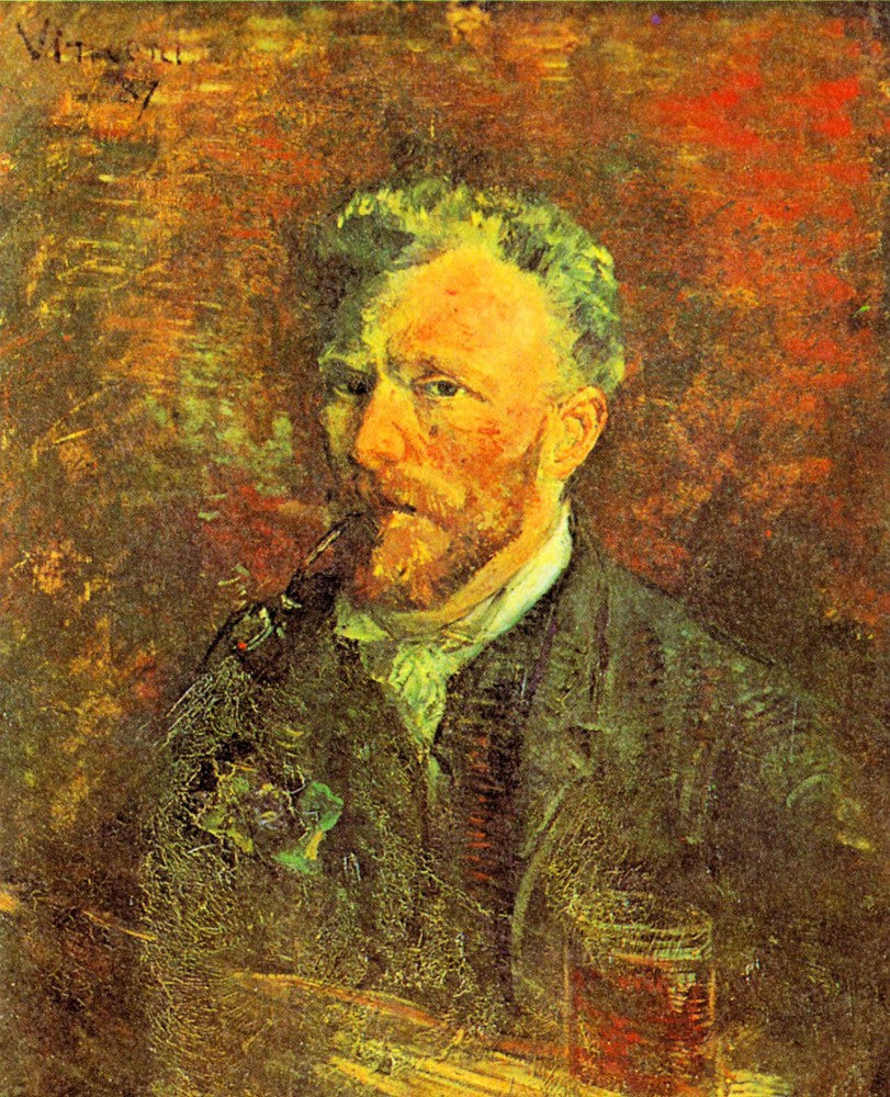 The Museum Outlet - Self-portrait, with pipe, at a table by Van Gogh